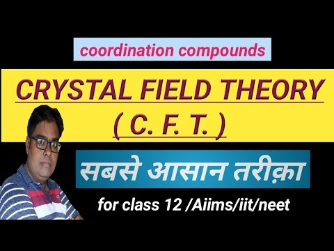 Crystal field theory | Coordinate compounds | chapter-9 | class-12 | inorganic  chemistry