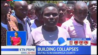Two storey building collapses in Butali, Kakamega