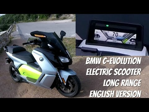 Electric Scooter BMW C Evolution Long Range Test Ride Review English Version