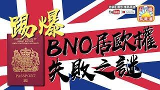 第五節 : 踢爆BNO居歐權失敗之謎!大師兄歐洲移民三大必勝心法!Tony Choi的三百萬東德馬克。| 升旗易得道 2018年4月10日