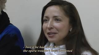 Александра Чернышова. Опера «Поэт и дочь Бишопа». Репетиция.