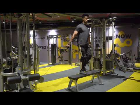 Dual Pully Step Up on Bench