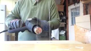 Bending plexiglass with a heat gun
