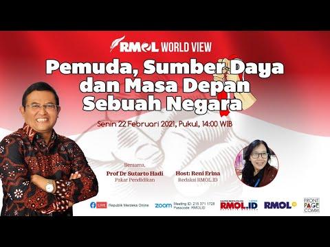RMOL Word View • Pemuda, Sumber Daya dan Masa Depan Sebuah Negara, bersama Prof Dr Sutarto Hadi