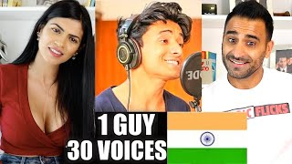 1 GUY 30 VOICES REACTION!!! (Indian Edition)