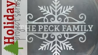 Glass Etching | Holiday Project Series 2014