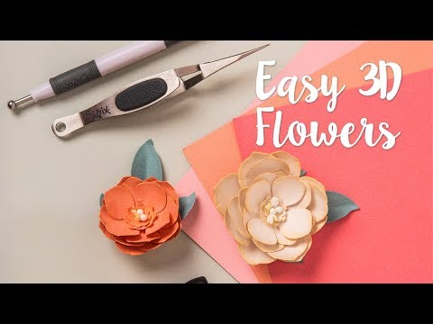 DIY 3-D Flowers - ft Paper Sculpting Kit  - Yasmin Rowlands