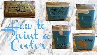 How To Paint A Cooler I Jordan Jessica