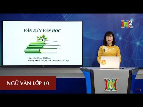 MÔN NGỮ VĂN - LỚP 10 | VĂN BẢN VĂN HỌC | 15H00 NGÀY 15.04.2020 | HANOITV