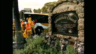 City bus crashes into wall at Kawaiahao Church