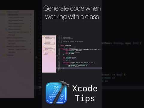Xcode Tips #2 - Generate code when working with a class thumbnail