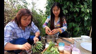 Vào vườn làm món Nhộng Ong xào trứng cuốn bánh tráng - Hương vị đồng quê - Bến Tre - Miền Tây