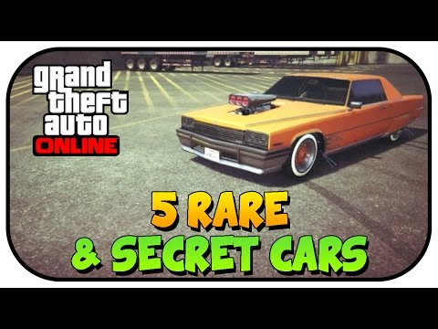 GTA 5 - Top 5 Rare & Secret Vehicles Online - Best Rare & Secret Cars Online Locations!