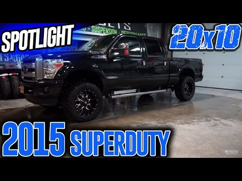 Spotlight: 2015 Ford F-250 Leveled on 20X10s and 35's!