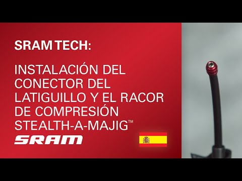 Instalación del conector del latiguillo y el racor de compresión Stealth-a-majig™