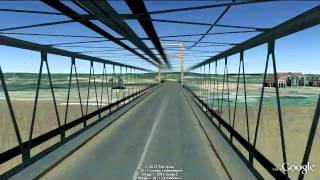 preview picture of video 'Jembatan Tenggarong (Google Earth 3D Kutai Kartanegara)'