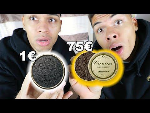 1€ KAVIAR VS 75€ KAVIAR !!!   PrankBrosTV