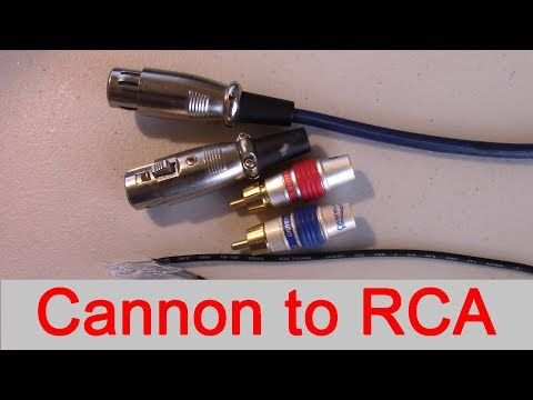 How to connect XLR output to RCA input. professional to consumer High End tube audio amplifiers