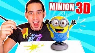 HAGO AL MINION EN 3D ! LO IMPRIMO Y LO PINTO   Haroldartist