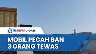 Kecelakaan Maut Tunggal di Jalan Tol Lampung, Mobil Isi 9 Orang Terguling hingga 3 Dinyatakan Tewas