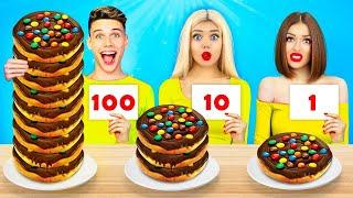 100  लेयर्स चॉकलेट फ़ूड चैलेंज   यमीज़ की 1 या 100 परतें खाना ! स्वादिष्ट मूकबैंग रटाटा द्वारा