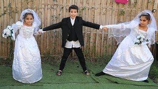 The Wedding of Sami pretend play funny kids videos,les boys