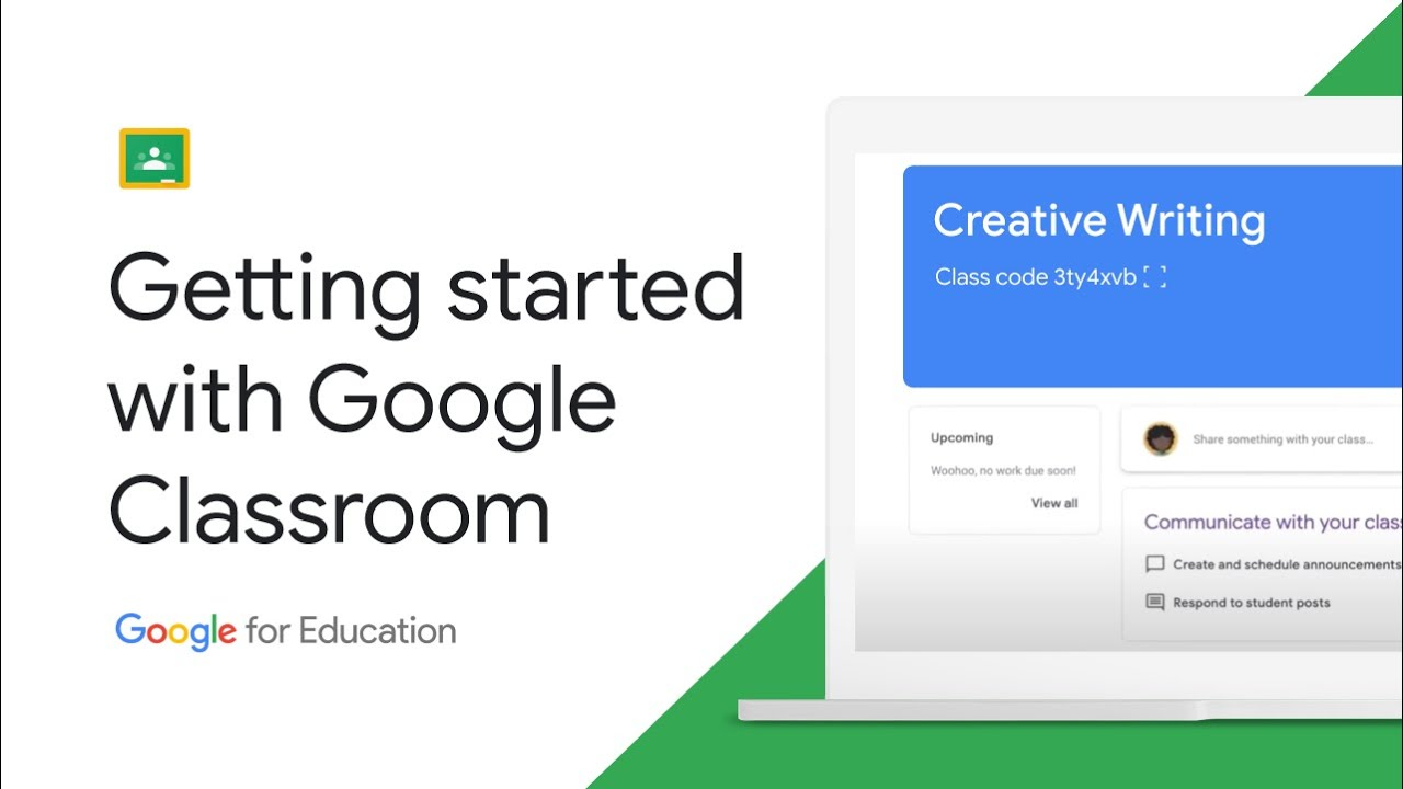 Animated video showing Google Classroom