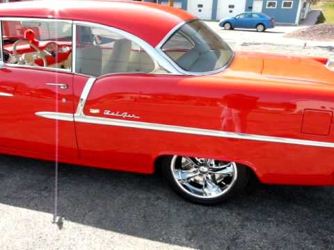 1955 Red Chevrolet Bel Air Video