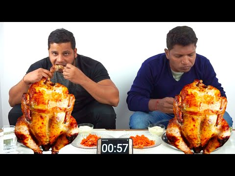 FULL GRILLED CHICKEN EATING CHALLENGE    HANG ON 1    REAL FOOD CHALLENGE