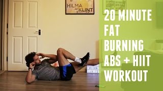 20 Minute Fat Burning HIIT & Abs Workout | Home HIIT by The Body Coach TV