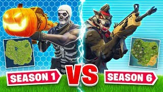 SEASON 1 vs. SEASON 6 In Fortnite!