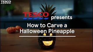 How to carve a Halloween pineapple