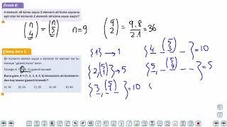 Eğitim Vadisi TYT Matematik 32.Föy Kombinasyon 1 Konu Anlatım Videoları