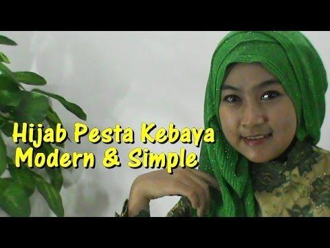 Video Cara Memakai Hijab Pesta Kebaya Modern dan Simple untuk Pernikahan by Anna