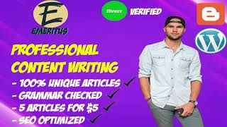 I will write you 5 articles on any topic