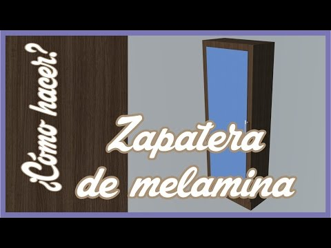 PLANO DE ZAPATERA BÀSICA DE MELAMINA