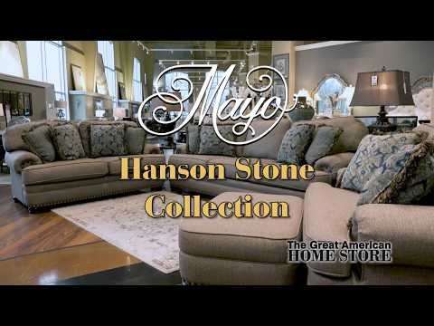Mayo Furniture Hanson Stone Ottoman