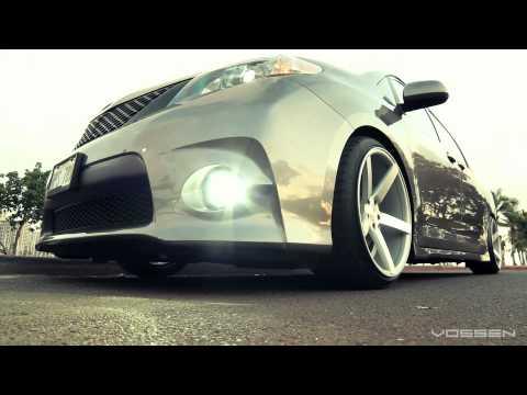 "Toyota Sienna Bagged on 20"" Vossen VVS-CV3 Concave Wheels"