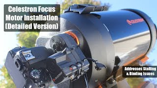 How to Install the Celestron Focus Motor (Detailed Version)