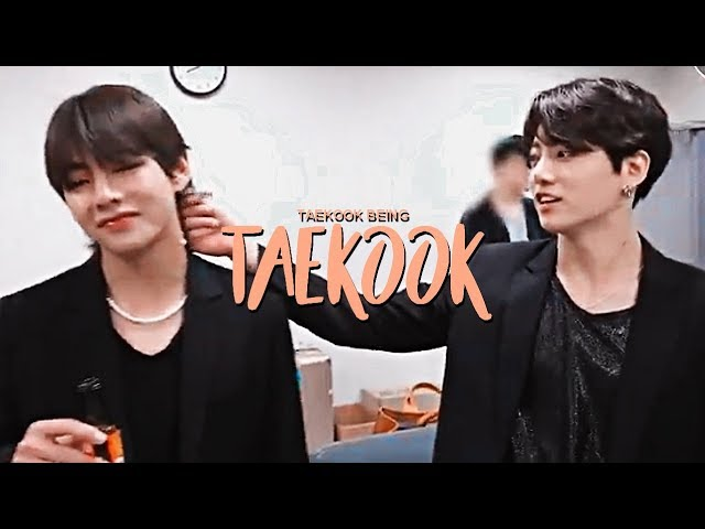 Taekook Random cute moments i think?