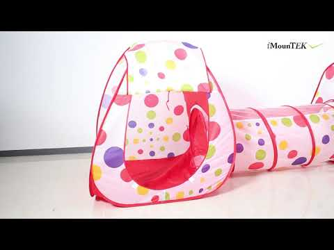 GPCT1856 - 3 In 1 Child Foldable Crawl Tunnel Tent Kids Set