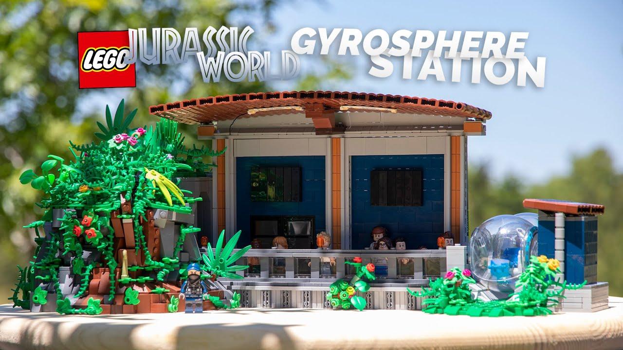 LEGO Jurassic World Gyrosphere Station! // Custom LEGO MOC
