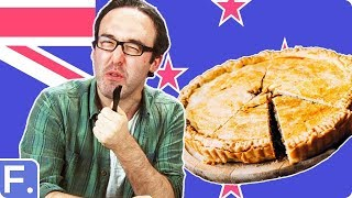 Irish People Taste Test New Zealand Pies