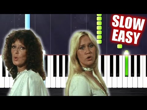 ABBA - Mamma Mia - SLOW EASY Piano Tutorial by PlutaX