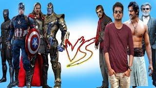 Marvel Super heroes vs Tamil Songs   Marvel Studios   Infinity War I Avengers