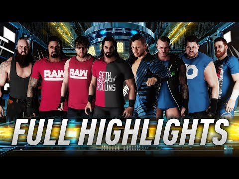 RAW vs SmackDown Live Highlights - Survivor Series 2018 - WWE 2K18