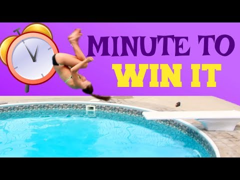 Gymnastics at the Pool: Minute to Win it Edition!