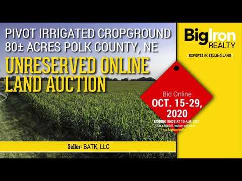 Land Auction 80+/- Acres Polk County, NE