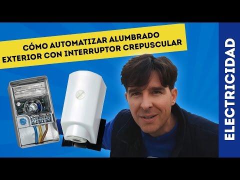 CÓMO AUTOMATIZAR ALUMBRADO CON INTERRUPTOR CREPUSCULAR