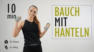 BAUCH MIT HANTELN trainieren / Bauchmuskulatur straffen   Katja Seifried